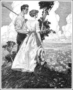 Illustration in pen and ink by Franklin Booth.