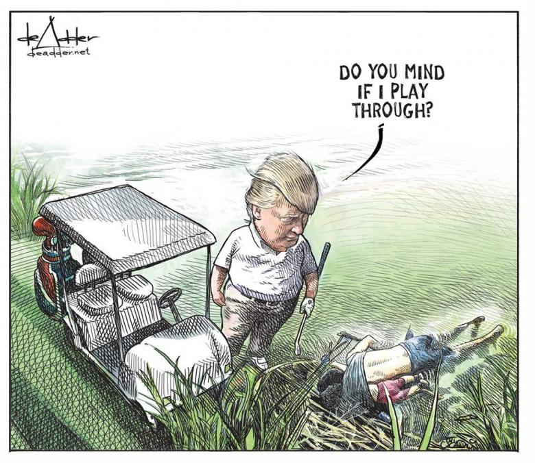 Political cartoon by Michael de Adder